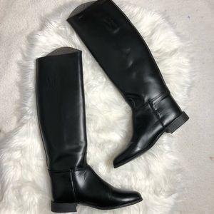 Tall black riding boots 8 1/2